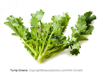 Turnip greens. Canadian Academy of Sports Nutrition